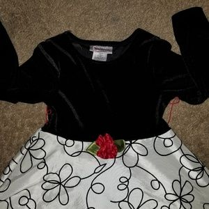 Youngland Dresses - Girls Black and White Dress